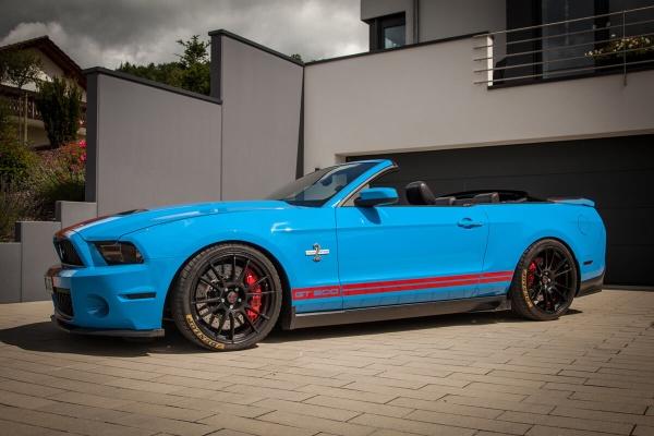 Ford Mustang VI: Upgrades für das Vorfacelift-Modell (LAE): Ford Mustang VI als Cabrio: ST suspensions hat passende Fahrwerksloesungen entwickelt. (Bild 3)