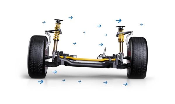 Ford Mustang VI: Upgrades für das Vorfacelift-Modell (LAE): Die Ford Mustang VI Gewindefahrwerke von ST supensions sorgen fuer mehr Fahrdynamik und ein besseres Handling. (Bild 5)
