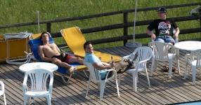 Wörtherseetour 2008 Bayernfraktion  Rund um den Wörthersee bwz auf der Fahrt von uns daheim an den See..  Rich Bitch, Seetour, Schocki, Vaater,l Wörthersee 2008  Bild 121692