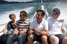 Wörtherseetour 2008 Bayernfraktion  Rund um den Wörthersee bwz auf der Fahrt von uns daheim an den See..  Rich Bitch, Seetour, Schocki, Vaater,l Wörthersee 2008  Bild 122429