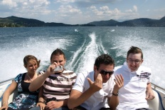 Wörtherseetour 2008 Bayernfraktion  Rund um den Wörthersee bwz auf der Fahrt von uns daheim an den See..  Rich Bitch, Seetour, Schocki, Vaater,l Wörthersee 2008  Bild 122433