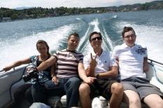 Wörtherseetour 2008 Bayernfraktion  Rund um den Wörthersee bwz auf der Fahrt von uns daheim an den See..  Rich Bitch, Seetour, Schocki, Vaater,l Wörthersee 2008  Bild 122468