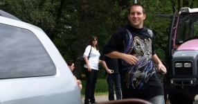Wörtherseetour 2008 Bayernfraktion  Rund um den Wörthersee bwz auf der Fahrt von uns daheim an den See..  Rich Bitch, Seetour, Schocki, Vaater,l Wörthersee 2008  Bild 122992