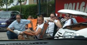 Wörtherseetour 2008 Bayernfraktion  Rund um den Wörthersee bwz auf der Fahrt von uns daheim an den See..  Rich Bitch, Seetour, Schocki, Vaater,l Wörthersee 2008  Bild 123008