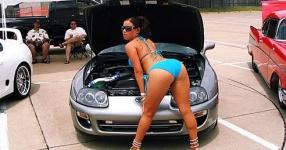 Car-Girls hir und da Frauen, autos,   Bild 157056