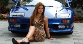 Car-Girls hir und da Frauen, autos,   Bild 157061
