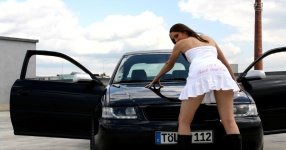 Shooting: Christina vs. Audi A3 1.8T München Shooting Christina Audi A3 1.8T  Bild 437683