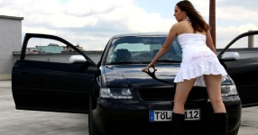 Shooting: Christina vs. Audi A3 1.8T München Shooting Christina Audi A3 1.8T  Bild 437684