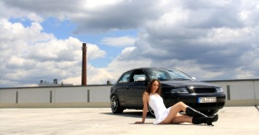Shooting: Christina vs. Audi A3 1.8T München Shooting Christina Audi A3 1.8T  Bild 438087