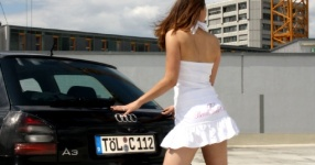 Shooting: Christina vs. Audi A3 1.8T München Shooting Christina Audi A3 1.8T  Bild 438112