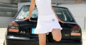 Shooting: Christina vs. Audi A3 1.8T München Shooting Christina Audi A3 1.8T  Bild 438120