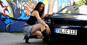 Shooting: Christina vs. Audi A3 1.8T München Shooting Christina Audi A3 1.8T  Bild 438331