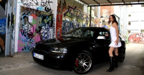 Shooting: Christina vs. Audi A3 1.8T München Shooting Christina Audi A3 1.8T  Bild 438486