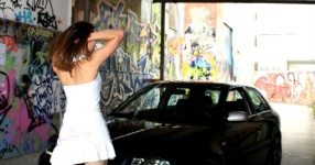 Shooting: Christina vs. Audi A3 1.8T München Shooting Christina Audi A3 1.8T  Bild 438493