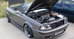 Audi 80 umbau1/2 Beim schrauben und Treffen Audi 80 cabrio Breitbau Rieger  Bild 493724