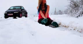 Wintersaison Schnaittenbach Opel Tigra Winter  Bild 716401