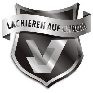 Lackieren auf Chrom Logo