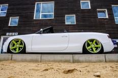 Ein Audi A5 Cabriolet auf Strandtour